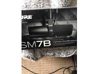 Shure sm7b condenser microphone