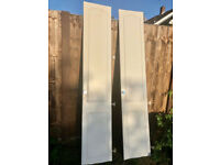 FREE - 6 white wardrobe doors and handles