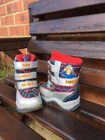 Fireman Sam Snow Boots