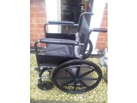 AS NEW LEATHER WHEELCHAIR NEW MODEL COST 300