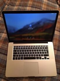 "Apple MacBook Pro Retina 15.4"" Mid 2015 Core i7 2.2 Ghz 16GB RAM 256GB SSD - No Offers"