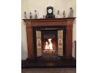Fireplace & pine surround