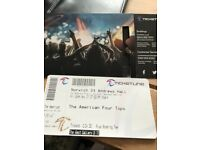 Tickets to see American 4 Tops