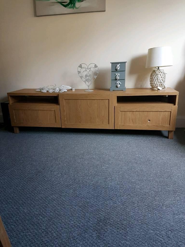 Reduced Ikea oak besta tv unit