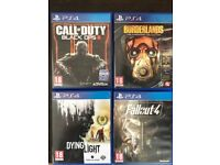 PS4 games (Fallout 4, Black Ops 3, Borderlands Collection, Dying Light)