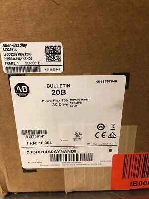 Nee Allen Bradley Powerflex 700 A.c. Drive Ser B 10 Hp 480 Vac Input