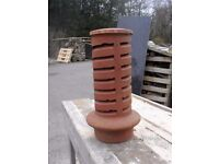 CHIMNEY POT/INSERT. GOOD CONDITION TWO DESIGNS. VENTILATION ONLY. PICK UP MATLOCK OR NOTTINGHAM.
