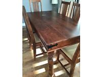 REDUCED. John Lewis Wooden dining table and 6 chairs