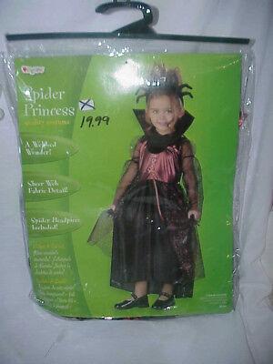 SPIDER PRINCESS DISGUISE HALLOWEEN COSTUME  SZ TODDLER 3T-4T](Spider Halloween Costume 4t)