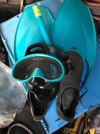 Snorkel and flippers