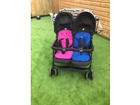 Joie double pushchair pram