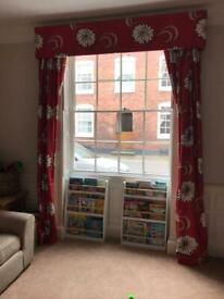 Professionally made large fully thermal lined curtains and pelmet
