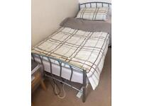 Metal Frame Single bed with matress
