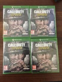 Xbox one call of duty WWII Brand New sealed