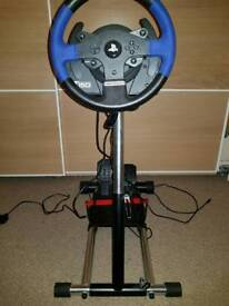PC and ps4 deluxe racing set up thrustmaster T150 and wheel stand Pro