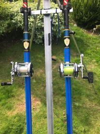 2 x ZZiplex custom built rods and matching Abu 6500 ct's