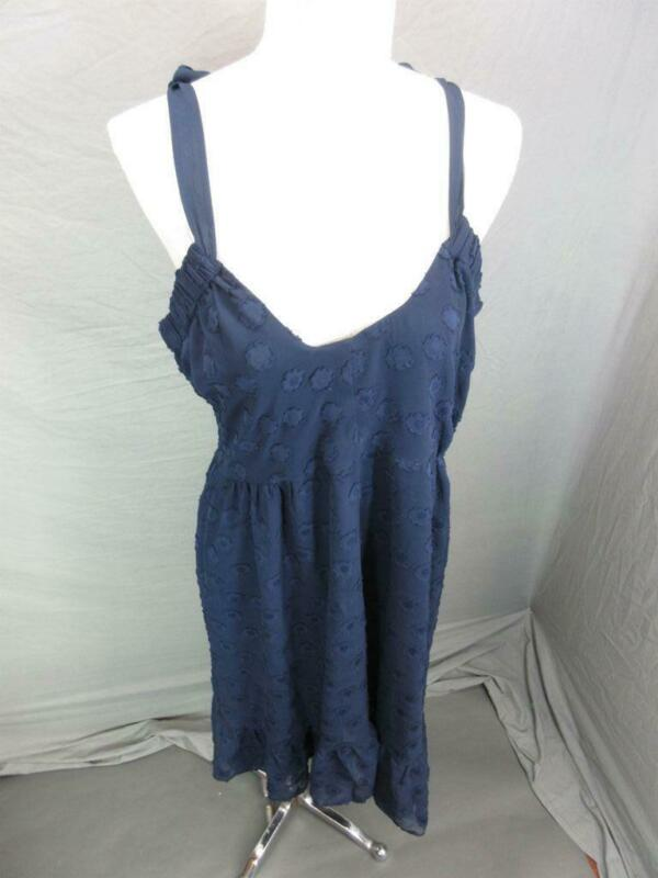 NWT A Pea in the Pod Size L Womens Navy Sleeveless Open Back Shift Dress 120