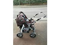 Push chair ,car seat ,baby bag and carry cot