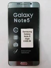 Unlocked Samsung Galaxy Note 5 32gb All Colours Available Fully Boxed Up