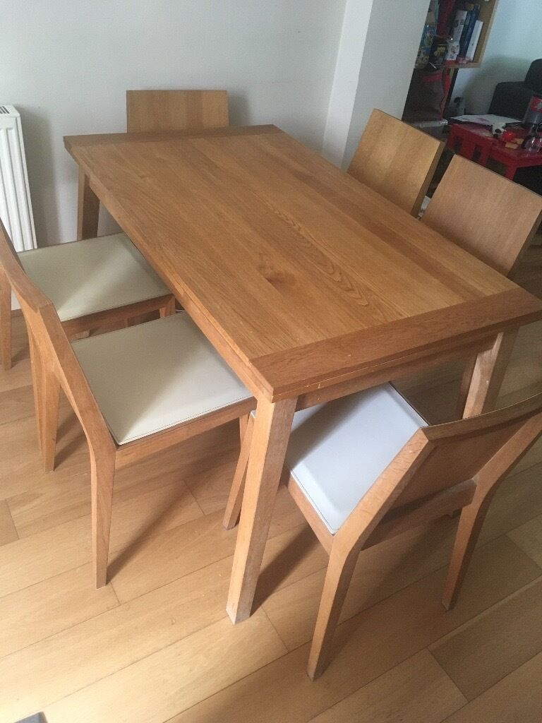 Habitat ruskin extendable table and 6 chairs in clapham for Table habitat