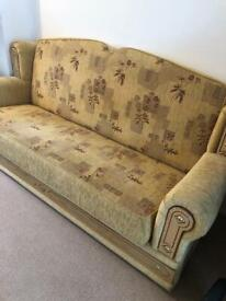 Settee coach sofa with storage room underneath