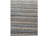 Wool Mixed colour Striped funky carpet 28 SQ metre