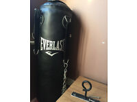 Everlast Heavy Duty 4ft Punch Bag and traing gloves.