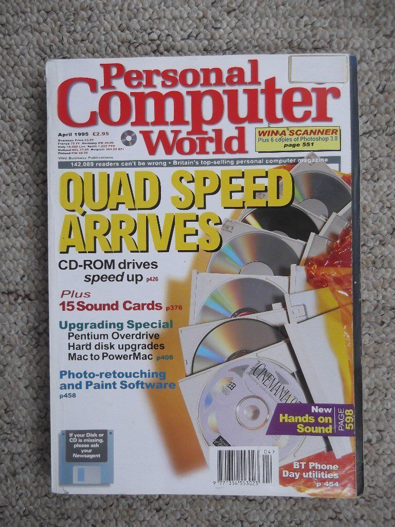 Personal Computer World computer magazine from April 1995 - 650 page issue
