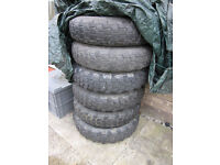 7.50 x 16 tyres on landrover series rims