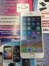 Apple iphone 6s white 16gb unlock good condition
