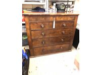 Antique Edwardian large chest of drawers
