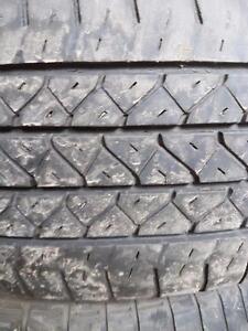 2 pneus d'été, Bridgestone, Potenza RE92, 225/60/16, 35% d'usure, mesure 7/32.