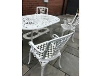 Garden furniture cast aluminium set