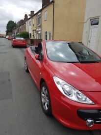 Peugeot 307cc 45000mls Red Lady Owner