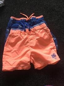Boys 6-9 month bundle shorts, shirts, swim shorts and swim outfit