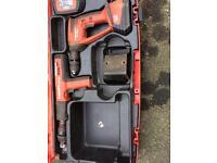 Hilti dx341 actuated nail gun and hilti xbt4000a 18v drill