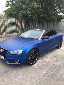 Audi A5 2.0T S Line Matte Blue, MOT+F/S/H , SatNav Bluetooth Heated Elec Seats