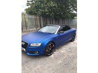 Audi A5 2.0T S Line Matte Blue, FSH/MOT, SATNAV, Bluetooth ,Heated Lthr Seats BANG & OLUFSEN
