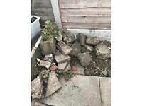 FREE rocks and broken paving slabs