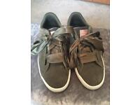 Women's khaki puma trainers - Size 6 - perfect condition