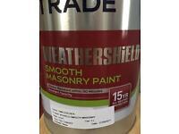 Masonry exterior paint, timeless (cream)