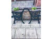 Retro, Vintage Cast Iron Bench Ends