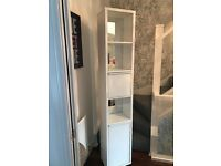 White Gloss & Mirror Effect Bathroom Cabinet