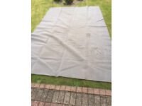 **BREATHABLE GROUND SHEET 4M X 2.5M, GREY, GOOD CONDITION**