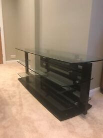 Black and glass TV stand by BDI - excellent condition