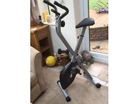 folding exercise bike by v -fit