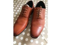 Men's formal tan shoes - size 12