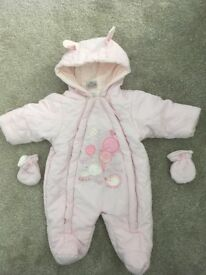 Baby girls snowsuits for sale