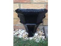 Victorian Cast Iron Rain Hopper - Refurbished in black - Large - Guttering / Planter