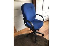 Top quality blue office chair black arms